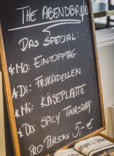 the abendbrot menu - dinner deluxe